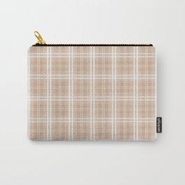 Spring 2017 Designer Color Light Hazelnut Brown Tartan Plaid Check Carry-All Pouch