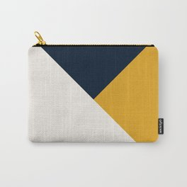 Tricolor Geometry Navy Yellow Carry-All Pouch