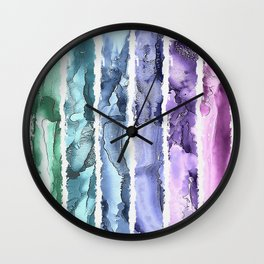 Colorful Painted Stripes Wall Clock