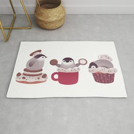 Cookie & cream & penguin Rug