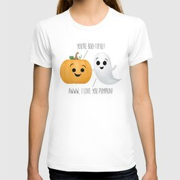 Boo-tiful Couple | Pumpkin & Ghost T-shirt
