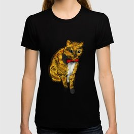 CAT WITH A BOW TIE T-shirt