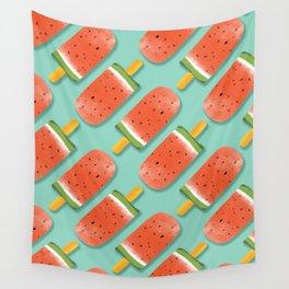Watermelon Popsicles Pattern #society6 #decor #buyart Wall Tapestry