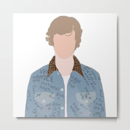 Menswear High Fashion Illustration Metal Print