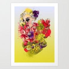 When the Petals Start Pouring Art Print