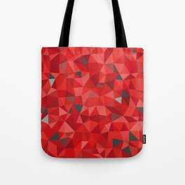 Red and gray triangular pattern - triangles mosaic Tote Bag