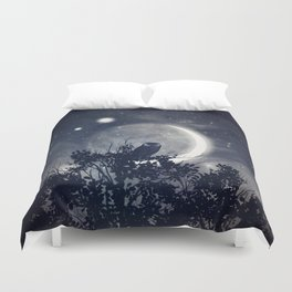 A Night With Venus and Jupiter Duvet Cover