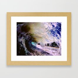 From the stars to the ground, in the water Framed Art Print
