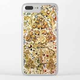 "William Morris ""Quince Tree"" Clear iPhone Case"