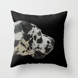Great Dane Dogue low poly. Throw Pillow