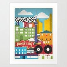 Touristique - Toronto Art Print