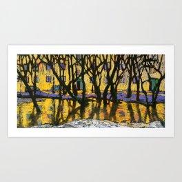 Golden Reflections. Art Print