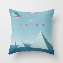 Cairo - Vintage Travel Poster Throw Pillow