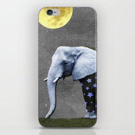 Elephant Under the Moon iPhone Skin