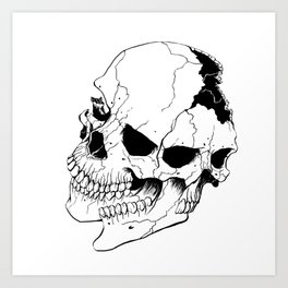 Skull #6 (Fragmented and Conjoined) Art Print