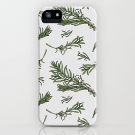Rosemary rustic pattern iPhone Case
