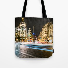 Gran Via (Madrid) Tote Bag