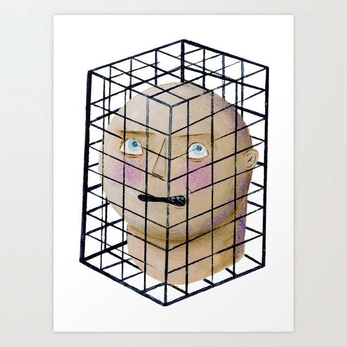 trap of thinking Art Print
