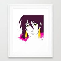 prince Framed Art Prints featuring Prince by Kellie Anne