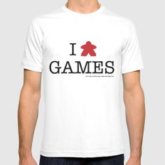I Meeple Games Mens Fitted Tee White MEDIUM