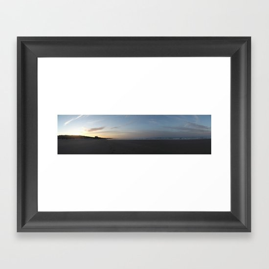Castle by the sea Framed Art Print