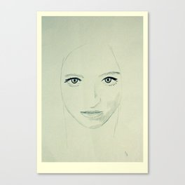 Portrait of a Lady - Verdure Canvas Print