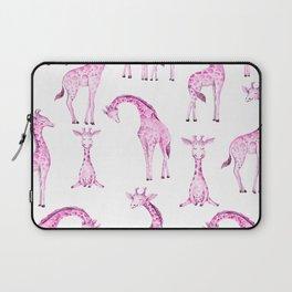 Pink Giraffes Laptop Sleeve