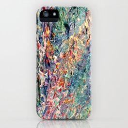 Bloom - palette knife abstract floral painting by Adriana Dziuba iPhone Case