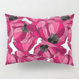 Pink Tulips Pillow Sham