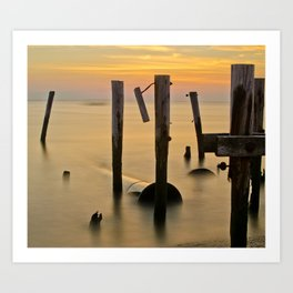 Cape May Last Rays  Art Print