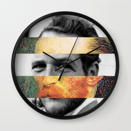 Van Gogh's Self Portrait & Paul Newman Wall Clock