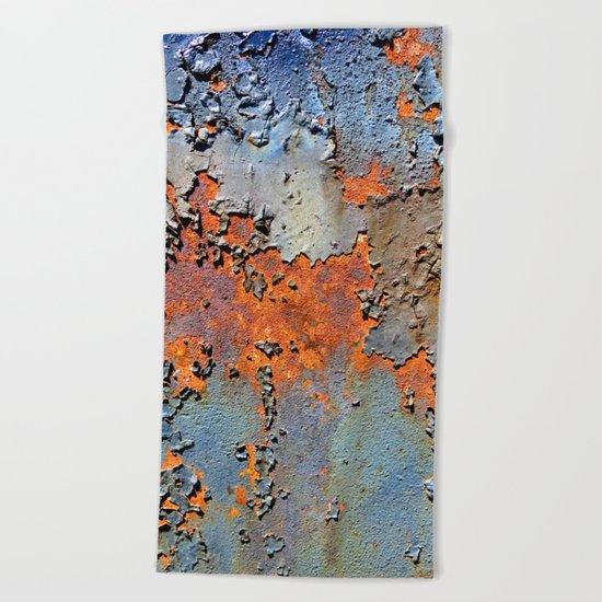 Rusted and Peeling 3 Beach Towel