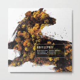 Hufflepuff Nature Metal Print