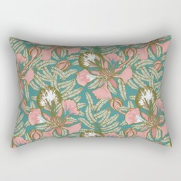 Poinciana Tropical Summer // Hand drawn Pattern Rectangular Pillow