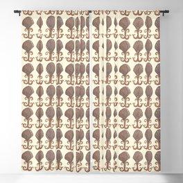 Art Deco Avalon Shell Pattern Cream Blackout Curtain