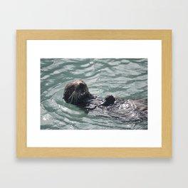 otter joy Framed Art Print