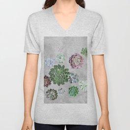 Simple succulents Unisex V-Neck