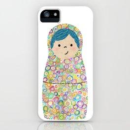Rainbow Matryoshka Nesting Dolls iPhone Case