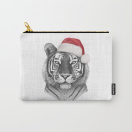 Christmas Tiger Carry-All Pouch