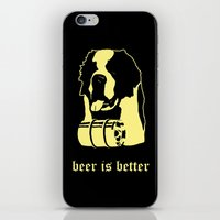 beer iPhone & iPod Skins featuring Beer by Andrea Bettin ART