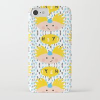 hey arnold iPhone & iPod Cases featuring Hey! Arnold by Carly Watts