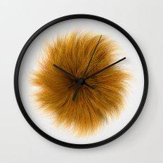 Orange Fuzz Wall Clock