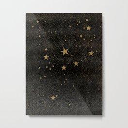 Paper Texture Stars Illustration from A high-school astronomy - Hiram Mattison - 1859 Metal Print