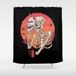 Hannya Spirit Mask Shower Curtain