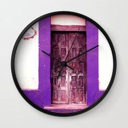 Blue Door Wall Clock