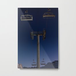 The Chairlift Pole Metal Print