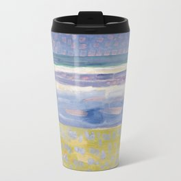 Sea after sunset by Piet Mondrian, 1909 Travel Mug