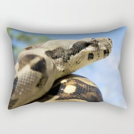 Constrictor in tree Rectangular Pillow