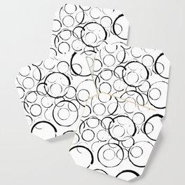 Brushstroke Circles No.2A by Kathy Morton Stanion Coaster
