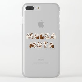 Mucca Muta italian 4 Stupid Cow Clear iPhone Case